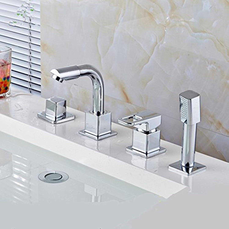 Jduskfl Wasserhahn Küchenarmatur Netz Wasserhahn Bad Wasserhahn Luxus Wandbrausebatterie Badezimmer Gebürstetem Nickel Duschpaneel Mit Handbrause, Dark Khaki
