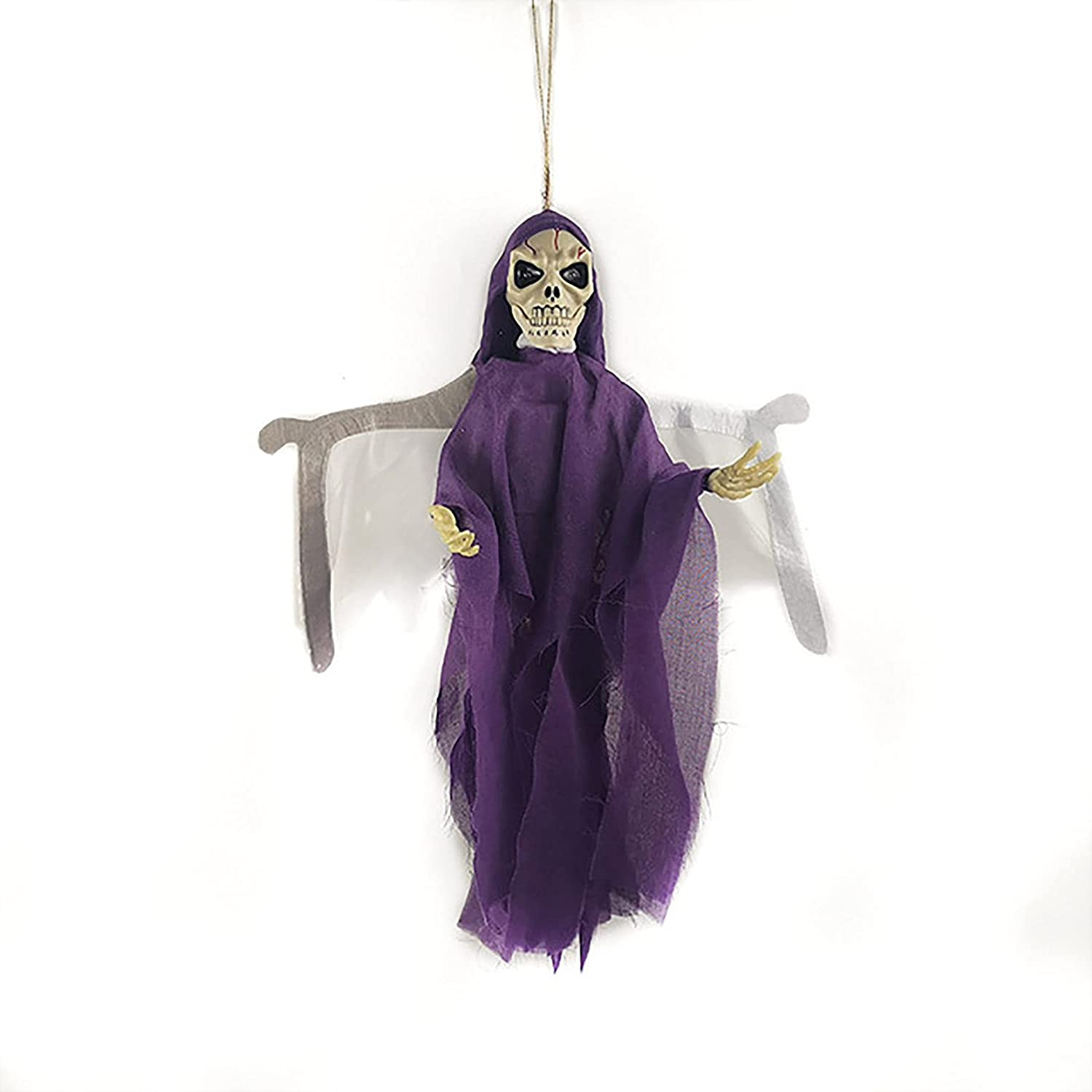 BEIAKE Cheap Halloween Bat Hanging All items free shipping Ghost Can and Used Light Emit Sound