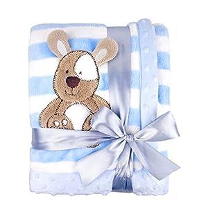 Big Size Fleece Blanket, 39″x59″(100x150cm) Plush Flannel Throw for Girls &Boys,Soft &Warm &Cozy, Double Layer &Reversible &Anti-Pilling &Easy Care (Big Blue Dog)