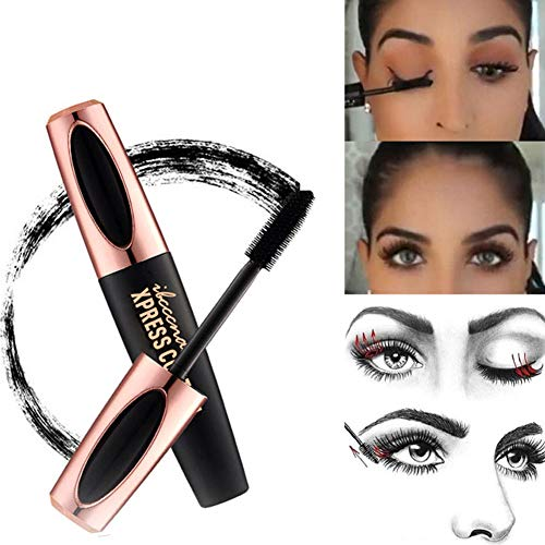 Metermall 4D Waterproof Long-lasting Mascara for Eyelash Extension Black Thick Lengthening Eye Cosmetics
