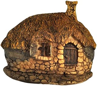 Top Collection Enchanted Story Garden and Terrarium Thatched Roof Fairy House Outdoor Decor, 2.25-Inch