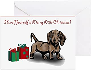 CafePress - Dachshund Christmas Cards (Pk Of 10) - Greeting Card (10-pack), Note Card with Blank Inside, Birthday Card Glossy