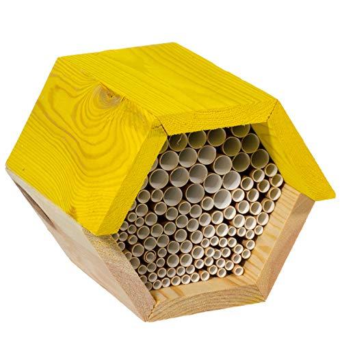 SIDCO Bienenhaus Insektenhaus Bienenkorb Bienenkasten Wildbienen Bienenhotel Holz