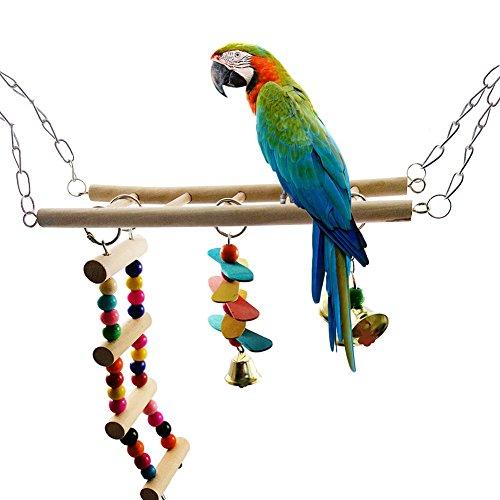 TankMR Vogel Kauwspeelgoed, Vogel Hanging Swing Shredding Kauwbaarzen Speelgoed voor Kooi Conures Parakeets Cockatiels Macaws Finches, Willekeurige kleur