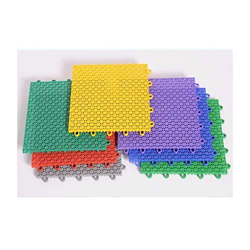 Myself-Plastic splicing floor Kunststoff-Netzpolster zum Aufhängen, hart, wasserfest, geeignet für Innen, Fitnessstudio, Basketball, Pool, Badminton, Hall, Mehrfarbig, 35 qm m/560