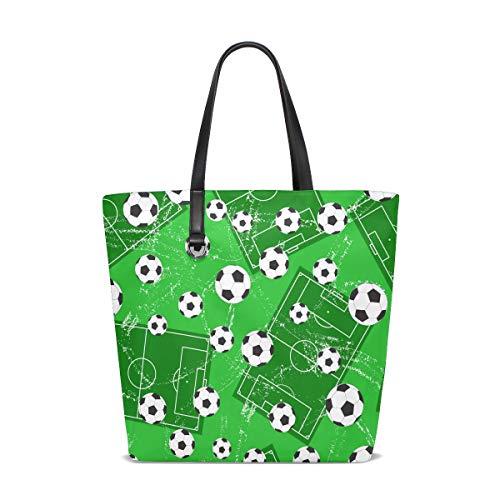 XiangHeFu Bolsos de mujer Fútbol Deportes Tierra Poliéster Bolso de hombro