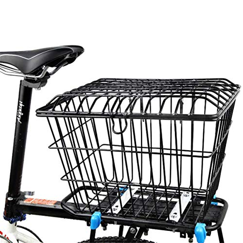 Bicycle Rear Basket, Bicycle Cargo Rack, Bold Foldable Back Pocket, Easy Installation on Rear Handlebar, Suitable for Most Bicycle