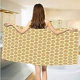 Bath Towels Gabbia Per Uccelli Stile Schizzo Gabbia Ornamentale Disegnato A Mano Casa Elementi Per Animali Salmone Asciugamani Da Bagno Marrone E Pesca Morbido 80X130 Cm Bagno Bagno Yoga Viaggi