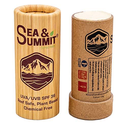 Sea & Summit Mineral Based Moisturizing Sunscreen, UVA/UVB Protection, SPF 36, Face Stick, Clear, 1 oz Stick