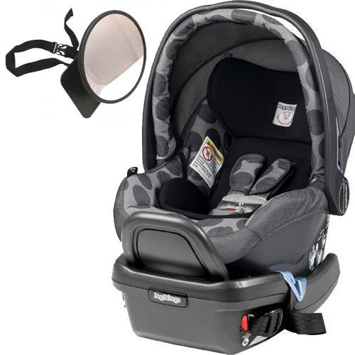 Peg Perego - Primo Viaggio 4-35 Car Seat w Back Seat Mirror - Pois Grey