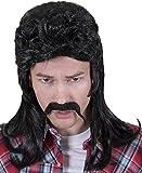 Kangaroo Halloween Accessories - Redneck Wig, Black