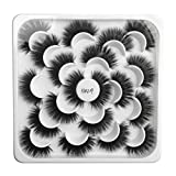 Kashyk 10pair Lotus mit 5D Nerz falsche Wimpern, natürliche Wimpern, Make-up, Wilde Wimpern