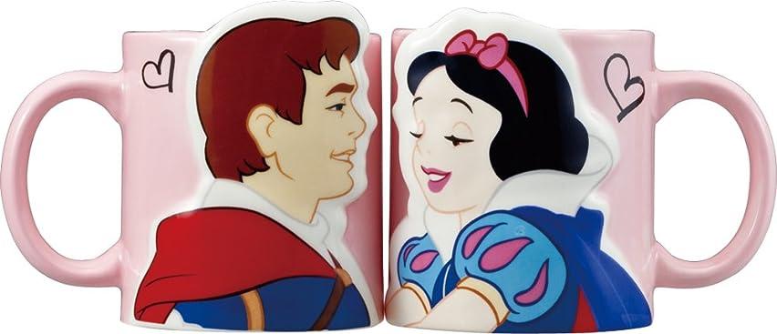 インシデント望遠鏡書店ディズニー 「 白雪姫 」 白雪姫&王子 キス ペア マグカップ 300ml SAN2518