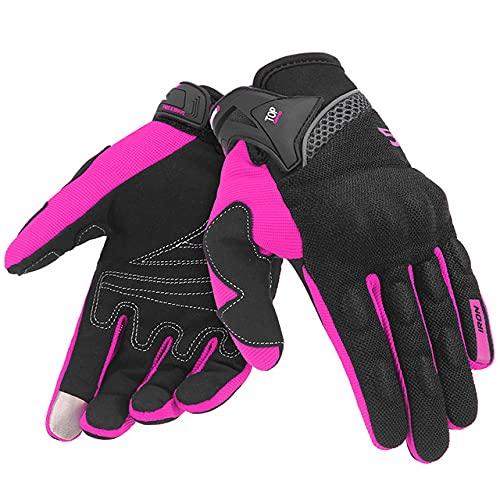 Guantes de Motocicleta para Hombre, Guantes de Carreras de Gant para Motocicleta, Guantes de Motocross, Guantes de Verano Transpirables para Motocicleta, Guantes de Dedo Completo-Purple Gloves-2-M