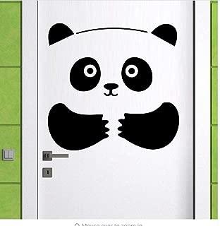 Wall Stickers Panda Bear 3D Door Sticker Door Window Fridge Decorations for Kids Room Home Decor Cartoon Animal Art Vinyl Decals