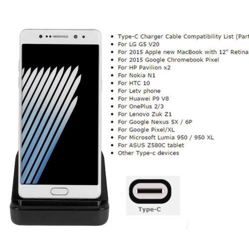 Buwei Type-C Dock Charger Que Carga la estación de la Base USB C 3.1 de Escritorio para el teléfono Android