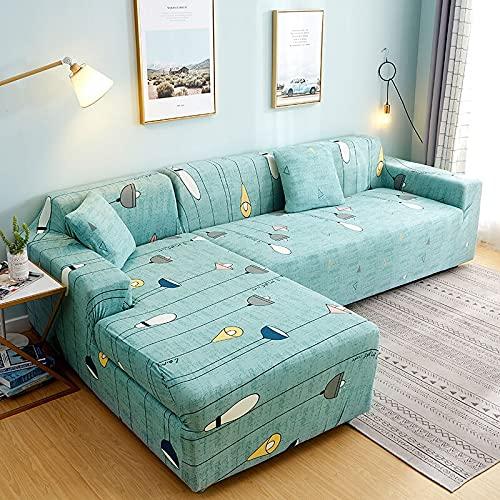 PPOS Four Seasons Funda de sofá elástica Universal de algodón elástico Silla Cubierta Completa Funda de sofá de Esquina Sala de Estar Funda de sofá para Mascotas D6 1 Asiento 90-140cm-1pc