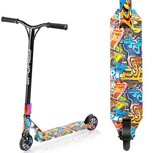 Chameleon Stunt Roller Spokey 110 mm ruedas PU transferencia de agua para jóvenes y adultos, patinete freestyle Roller regalo