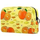 Trousse de toilette portable pour femme avec trousse de maquillage personnalisée pour maquillage organiseur de voyage vitamine C orange