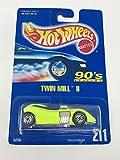 Hot Wheels Mattel Twin Mill 2 211 1991 Blue Card