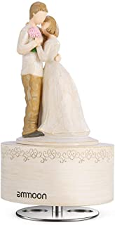 ammoon Music Box Hand-painted Engraving Embracing Couple Classic Melody