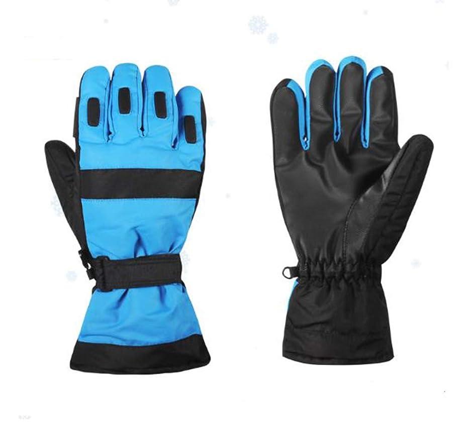 前進波紋シットコム手袋の冬の暖かいスキー手袋の防水および防風の厚い手袋