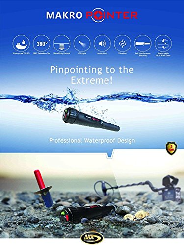 Makro Pointer Waterproof Metal Detector with Led Light and Extra's