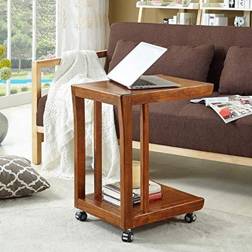 MU Haushalt Couchtisch, Beistelltisch aus modernem Naturholz Beistelltisch, Beistelltisch, Beistelltisch mit Rollen, für Wohnzimmer, Schlafzimmer, Balkon