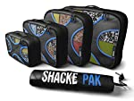 Shacke Pak - 4 Set Packing Cubes - Travel Organizers with Laundry Bag