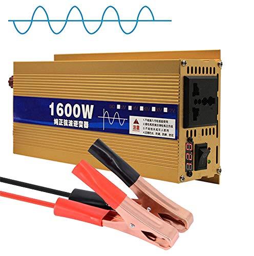 JHKJ-Inverter Wechselrichter 1600W Spannungswandler DC 12V 24V 48V 60V zu AC 230V Reiner Sinus Wechselrichter Spannungswandler,48v