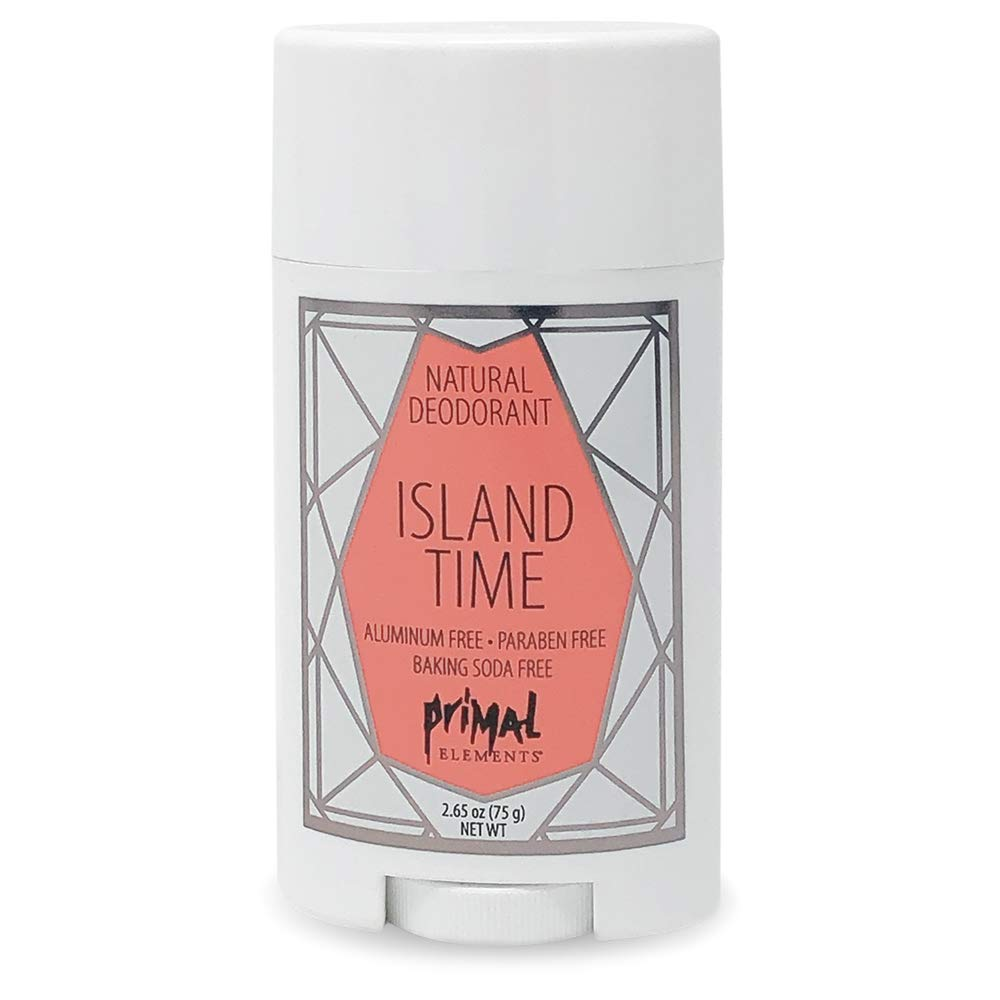 Primal Elements Tulsa Mall Island Time Deodorant low-pricing Natural 2.65 Ounce