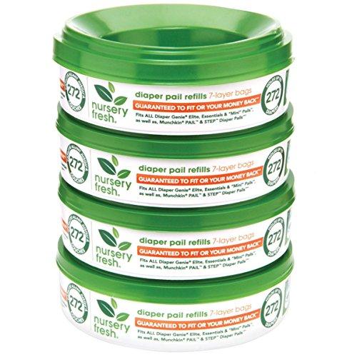 Nursery Fresh - Recambio para pañales Genie, 272 Count (Pack of 4)