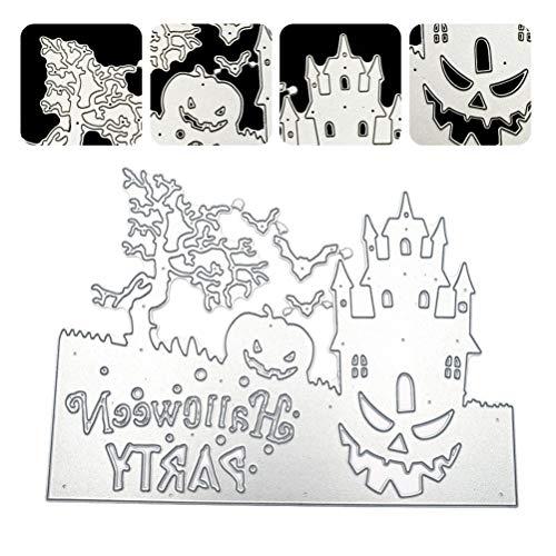EXCEART Halloween Castle Prägung Schneidstempel Formschnitt Stempel Schablone für Karten Machen Sammelalbum Und Basteln