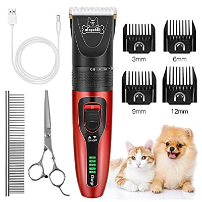 Slopehill Dog Clippers, Cordless Dog Grooming K...