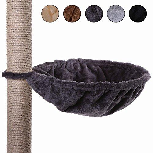 dibea Liegemulde für Kratzbäume, besonders robust (40 cm, grau)