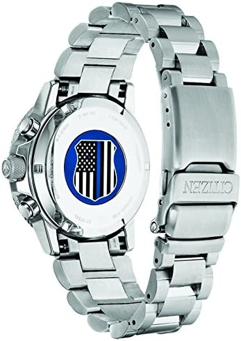 Citizen Men's Thin Blue Line Watch Chronograph 200M WR Eco Drive CA0291-59E WeeklyReviewer