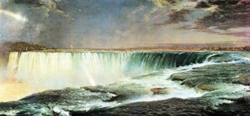 The Museum Outlet - Niagara Falls by Frederick Edwin Church - Canvas Print Online Buy (24 X 32 Inch)