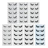 MAGEFY 35 Pairs Eyelashes 3D Faux Mink Lashes Pack , 6 Style