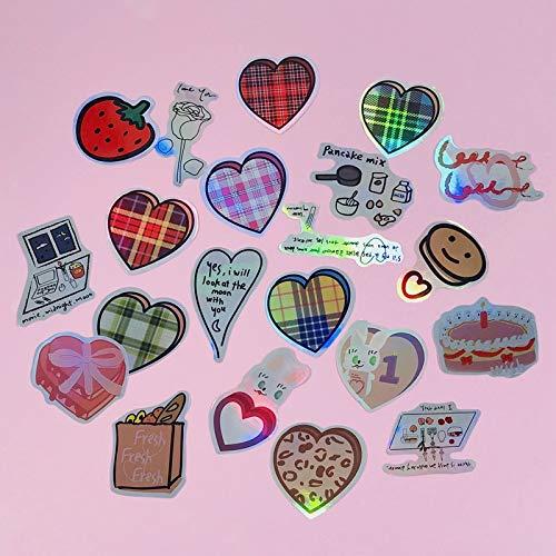 23PCS Kawaii Laser Loving Heart Sticker Scrapbooking Decorative Sticker Korean DIY Diary Album Stick Label Cute Stationery Gift