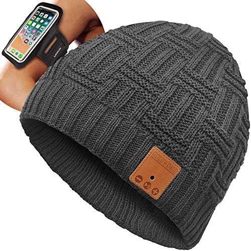 GoldWorld Bluetooth Beanie Bluetooth Hat Bluetooth Beanie Hat w Running Armband Unique Stocking product image