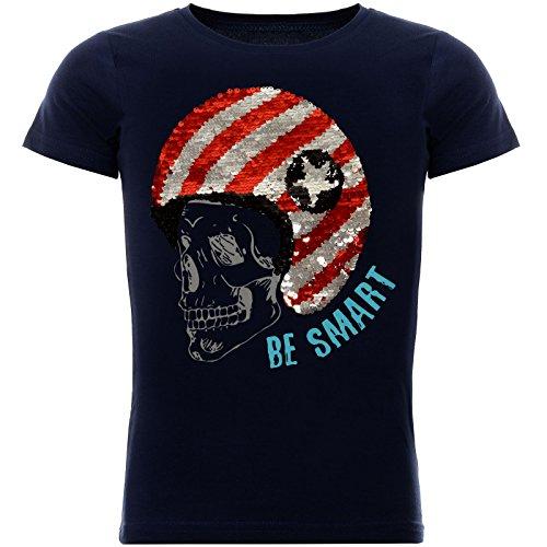 BEZLIT Jungen T-Shirt Coolem Wende-Pailletten 22027 Blau Größe 116