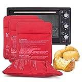 Borsa per Microonde, Patate al Forno, Previene la Perdita di umidità per Cuocere Rapidamente Le Patate (4 Pezzi)