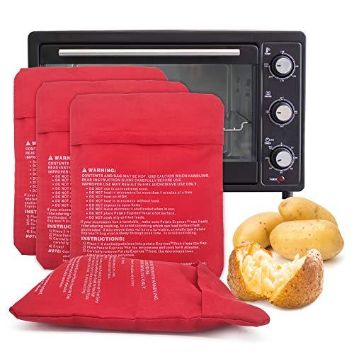 Bolsa de Cocina para Microondas, Bolsa de Papa, Puede Hornear Papas Rápidamente Y Fácilmente(4 piezas)