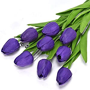 KFRS Artificial Flowers Tulips Real Touch PU Latex Bouquets for Home Decor Wedding Decoration Party Gifts Valentines Day for Crafts