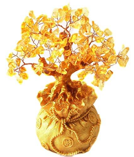 Itian Geldbaum in Einem Sack Vll Geld, für Reichtum Glück, Ideal für die Dekoration (Gelb)