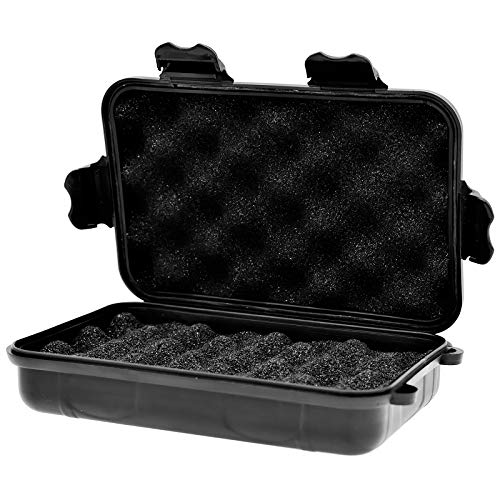 Caja de Almacenamiento Impermeable, Estuche portátil seco Impermeable con Inserto de Espuma (Negro)