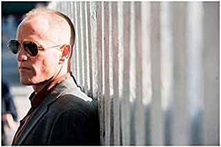Rampart (2011) 8 inch x 10 inch PHOTOGRAPH Woody Harrelson Sunglasses Facing Left Leaning on Bars kn