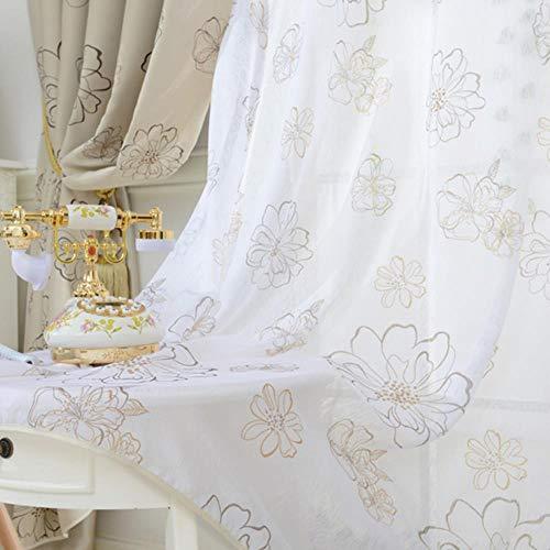 Jaloezieën Luxe Moderne Bloemenraam Verduisterende Gordijnen Woonkamer Slaapkamer Keukenraam Behandelingen Schermpaneel, Tule, B400xH270cm