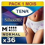 Tena Silhouette Normal Medium Sous-Vêtements pour Fuites Urinaires / Incontinence / Post-partum (Pack 1 mois de 36 Sous-vêtements)