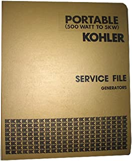 Kohler Master Service File Generators Portable 500 Watt To 5KW Binder 1, Circ.